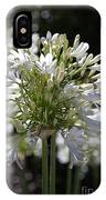 White Bright Agapanthus IPhone Case