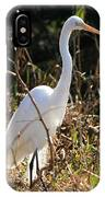 White Brilliance Of The Egret IPhone Case
