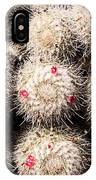 White Cactus Pink Flowers No1 IPhone Case