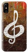 White Clef IPhone Case