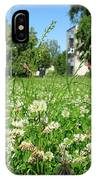 White Clover Field And The Playground IPhone Case