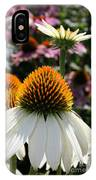 White Cone Flower IPhone Case