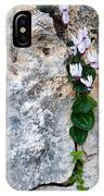 White Cyclamen Flowers IPhone Case