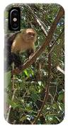 White-faced Capuchin Monkey In Manuel Antonio National Preserve-costa Rica IPhone Case