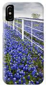 White Fence - Blue Bonnets IPhone Case
