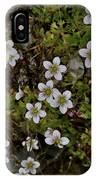 White Flowers And Moss IPhone Case