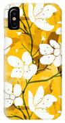 White Flowers Of Early Summer IPhone Case