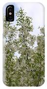 White Flowers On Branches IPhone Case