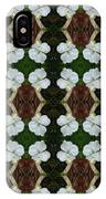 White Geranium Pattern IPhone Case