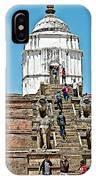 White Hindu Temple In Bhaktapur Durbar Square In Bhaktapur-nepal  IPhone Case