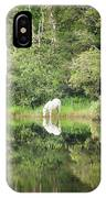 White Horse Drinking Water IPhone Case