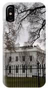 White House On A Cloudy Winter Day IPhone Case