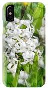 White Hyacinth Flowers Digital Art IPhone Case