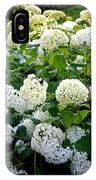 White Hydrangeas IPhone Case