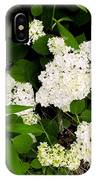 White Hydrangia Beauty IPhone Case