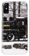 White Mountains Railroad And Train IPhone Case