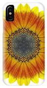 Orange And Yellow Sunflower I Flower Mandala White IPhone Case