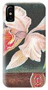 White Orchid Cigar Label IPhone Case