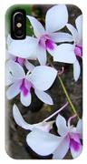 White Orchid Cluster With Hot Pink IPhone Case