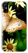 White Peacock Butterfly I I I IPhone Case