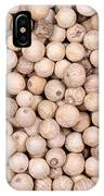 White Peppercorn Background IPhone Case