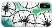 White Petunias- Floral Abstract Painting IPhone Case