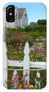 White Picket Fence In Mendocino IPhone Case