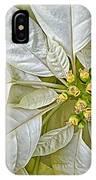 White Poinsettia IPhone Case