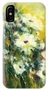 White Poppy Garden II IPhone Case