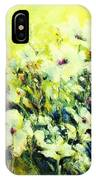 White Poppy Garden IPhone Case