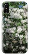 White Rhododendron Blooming In The Garden IPhone Case