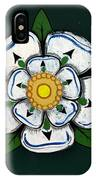 White Rose Of York IPhone Case