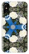 White Roses And Babys Breath Kaleidoscope IPhone Case