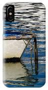 White Skiff - Lyme Regis Harbour IPhone Case