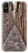 White Streets Of Dubrovnik No3 IPhone Case