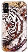 White Tiger Twist IPhone Case