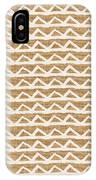White Triangles On Burlap IPhone Case by Linda Woods