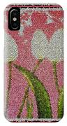 White Tulips On Pink In Stained Glass IPhone Case