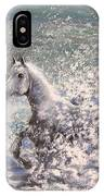 White Wild Horse IPhone Case