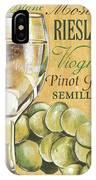 White Wine Text IPhone Case