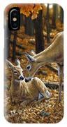 Whitetail Deer - Autumn Innocence 2 IPhone X Case