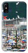 Whittier Alaska Boat Harbor IPhone Case