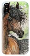 Wieza Wiatrow Polish Arabian Mare Watercolor Painting  IPhone Case