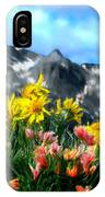 Wild Flowers In The Moutains IPhone Case