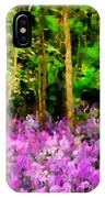 Wild Forest Violets IPhone Case
