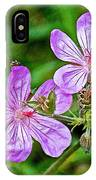 Wild Geranium On Trail To Swan Lake In Grand Teton National Park-wyoming IPhone Case