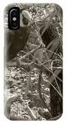 Wild Hawaiian Parrot Sepia IPhone Case