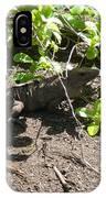 Wild Iguana Finding Shade 2 IPhone Case