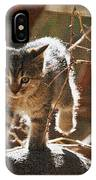 Wild Kitten Happy To Be Alive IPhone Case