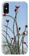 Wild Ocotillo In Bloom IPhone Case
